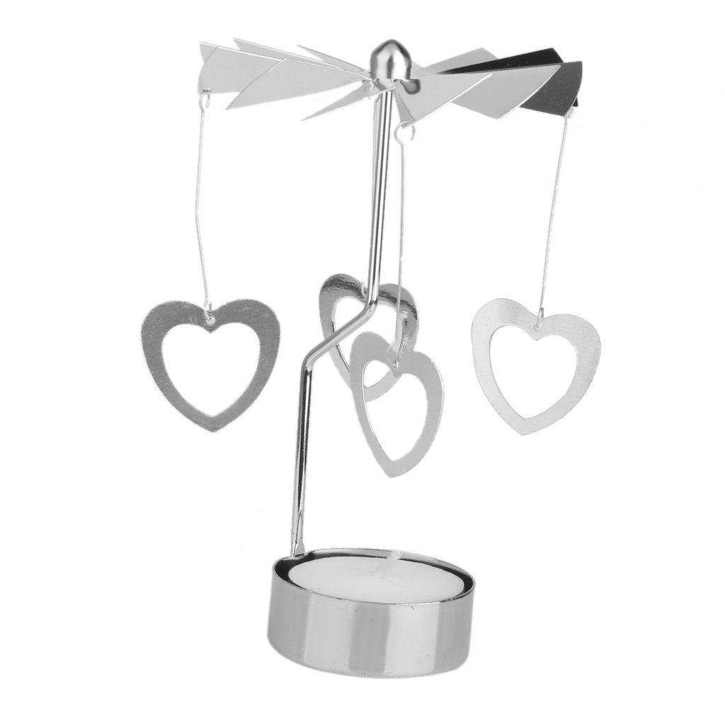 Rotary Spinning Carousel Tea Light Candle Holder Table Decoration (Angel)