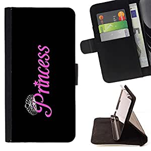 For LG G3 Princess Black Pink Silver Diamond Tiara Style PU Leather Case Wallet Flip Stand Flap Closure Cover