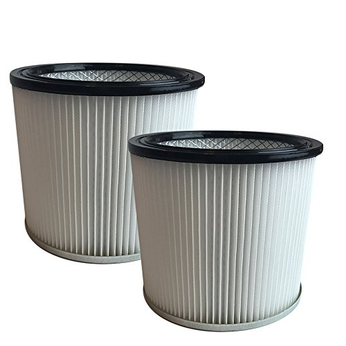 Think Crucial 2 Replacements for Shop-Vac Cartridge Filter Fits 5-Gallon & Up We & Dry Vacs, Compatible With Part # 90304 (Filter Vac Dry)