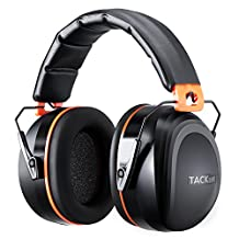 Tacklife Noise Cancelling Ear Muffs, Shooters Hearing Protection Ear Muffs,Folding-Padded Head Band Ear Cups, SNR 34dB Professional Ear Defenders | HNRE1