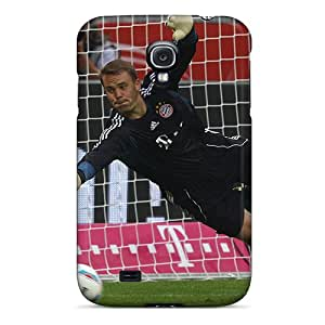 CSmith OMA3300bhBX Case For Galaxy S4 With Nice The Football Player Of Bayern Manuel Neuer Catching A Ball Appearance