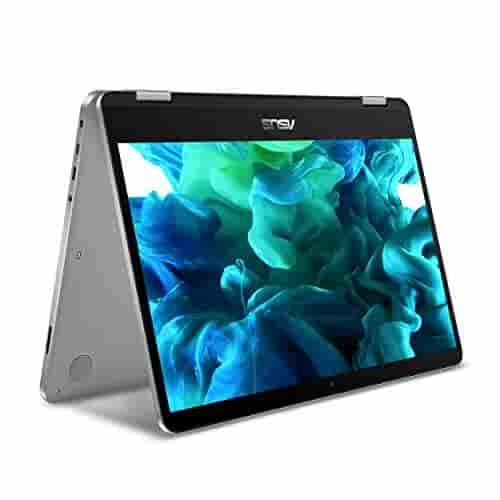 ASUS VivoBook Flip 14 Thin and Light 2-in-1 HD Touchscreen Laptop, Intel 2.2GHz Processor, 4GB RAM, 64GB Storage, Windows 10 in S Mode (Switchable to Win10 Pro) - TP401NA-YS02