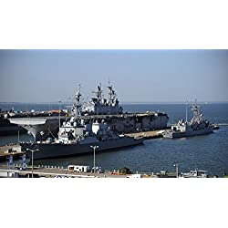 LAMINATED POSTER Naval Station Norfolk hosts the second annual Fleet Fest, which includes tours for the public on the