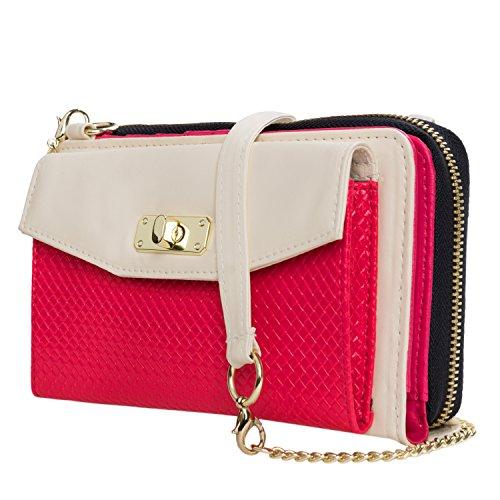 - VanGoddy Venice II Clutch Handbag Wallet (Cream/Magenta) for BLU Advance A5 / Vivo 8L XL2 / Grand M2 XL Max Energy M X / R1 Plus / R2 / Studio J8 J2 Selfie 3 / Neo X2 / Tank Xtreme 5.0 Pro