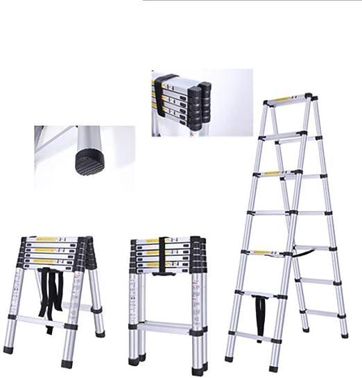 Congming 2.8 + 2.8-Escalera De Aluminio Telescópica De Doble Propósito- Escalera Casera-Escala De Aluminio Portable De Múltiples Funciones: Amazon.es: Hogar