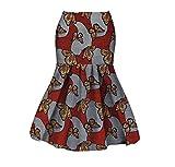 Abetteric Women Batik Dashiki Short Mermaid Africa Cotton Sexy Bodycon Skirt 19 XS