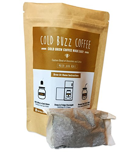 Mocha Java Cold Brew Iced Coffee (5-pack) | Cold Buzz Coffee Bean Bag Packs