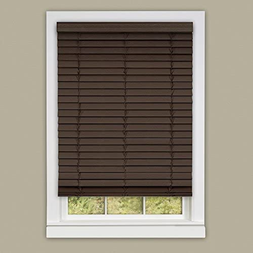 Achim Home Furnishings Madera Falsa 2-Inch Slat Faux Wood Plantation Blind