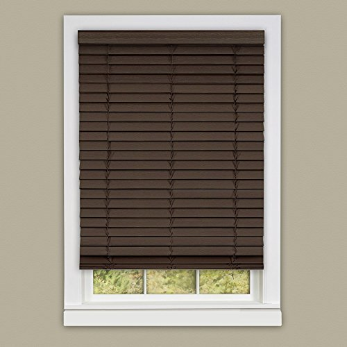 Achim Home Furnishings Madera Falsa 2-Inch Slat Faux Wood Pl