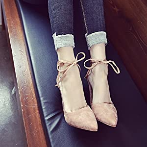 1a9884715ec Women s Chunky Ankle Strappy Sandal Pointed Toe High Heels. Chuanqi Women s  Chunky Ankle Strappy Sandal Pointed Toe High Heels