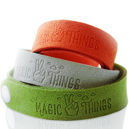 Magic-Things - Natural Mosquito Repellent Bracelet with Citronella - Multi-Color 6 Pack