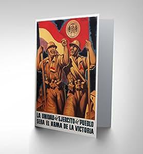 Guerra CIVIL Española de la BRIGADA internacional de España republicana tarjeta CP1419