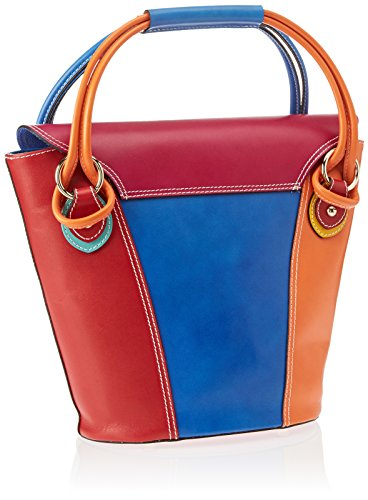 9144 Women's handle Multicolore Multicolour Bag Top Borse Chicca mix q4wxCAEn
