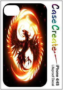 Phoenix Flames Firebird Fantasy Decorative Sticker Decal for your iPhone 4 4S Lifeproof Case