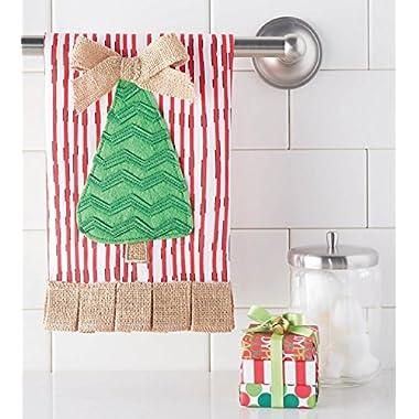 Mud Pie 21 x 14 Inch Christmas Tree Towel