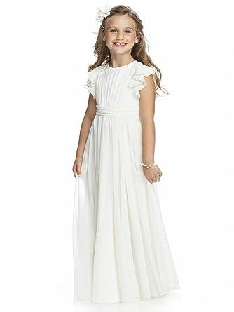 7c186f897a7a0 KekeHouse® Robe Longue de Cérémonie Fille Enfant Mariage Anniversaire Fête  Sans manches  Amazon.fr  Vêtements et accessoires