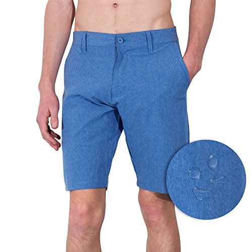 [Burnside Mens Dual Lightweight Hybrid Stretch Boardshort Short (30, Bright Blue)] (Xxl Santa Suits For Sale)