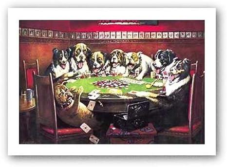 Cartel de chapa Ocho perros jugando a las cartas, Tamaño: 32 x 41 cm: Amazon.es: Hogar