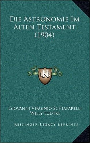 Book Die Astronomie Im Alten Testament (1904)