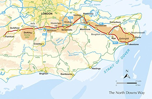 North Downs Way Map The North Downs Way (Southern England): Amazon.de: Kev Reynolds