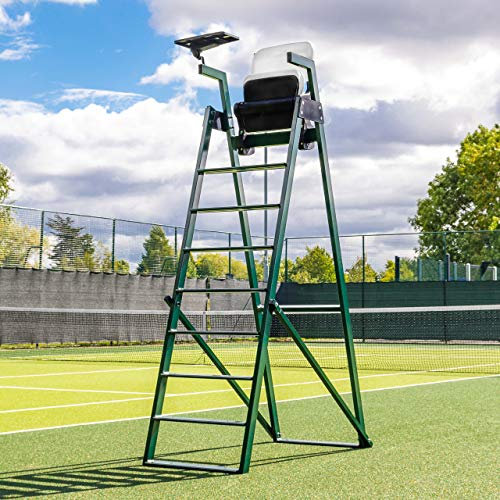 Vermont Aluminum Tennis Umpires Chair | 100% Weatherproof | Premium Aluminum Frame | HDPE Tip-Up Seat with Pivot Tray | Meets ITF Tournament Regulations | Supreme Durability ()