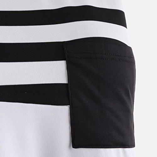 Femmes Sweatshirt Noir Col Impression Chemisier Manche Vest Sexyville Shirt T sans Rond Dbardeur Tops B54U4q