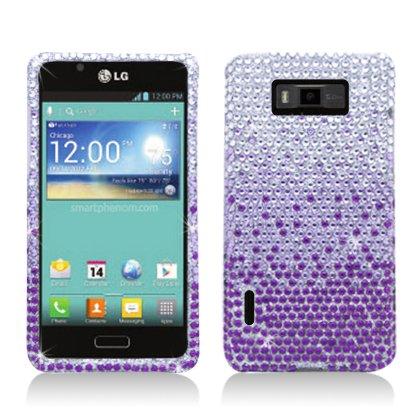 Aimo Wireless LGUS730PCDI174 Bling Brilliance Premium Grade Diamond Case for LG Splendor/Venice S730 - Retail Packaging - Purple Waterfall