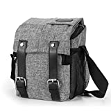 Amzbag Camera Bag DSLR Camera Messenger Bag Case With Shoulder Strap Carrying Shoulder Bag for Four Third, Hybrid, and High Zoom, Mirrorless Camera and Instax Instant Camera (Grey)