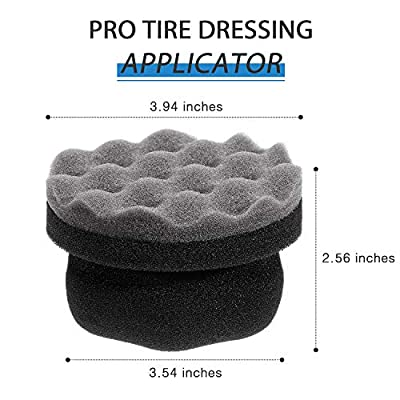 2 Pieces Tire Dressing Applicator Tire Shine Applicator Dressing Pad Tire Cleaner Sponge Large Hex Grip Design for Applying Tire Shine, Dressing Vinyl Rubber and Trim Accessories (Gray): Automotive