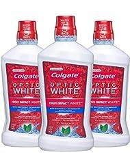 Colgate Optic White Whitening Mouthwash, Fresh Mint...