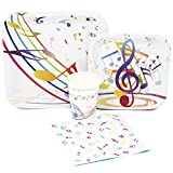 Blue Orchards Music Party Standard Party Packs (65+ Pieces 16 Guests!), Music Birthday Decorations, Music Party Supplies