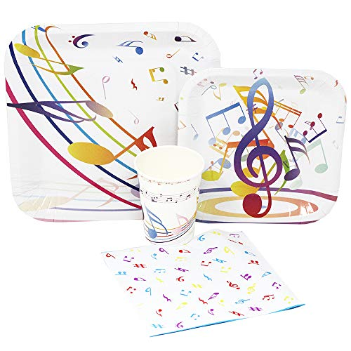 Blue Orchards Music Party Standard Party Packs (65+ Pieces for 16 Guests!), Music Birthday, Music Party Supplies -