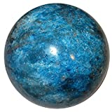 Satin Crystals Apatite Ball 3'' Collectible Rare Big Blue Red Healing Sphere Weight Loss Energy Stone C03