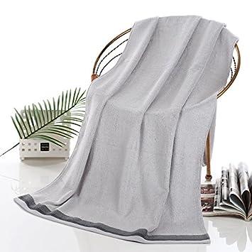 ZYZX 100% Fibra de bambú Gruesas Toallas Suaves Toallas de baño Toallas de baño Toallas de baño Toalla de Playa -70 * 140cm Costilla-(Gris): Amazon.es: ...