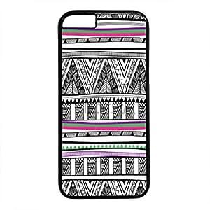 iPhone 5C Case, iCustomonline Colorful Chevron Stripe Pattern Designs Rubber Case for iPhone 5C Black