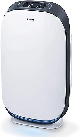 Beurer LR500 - Purificador de Aire con Bluetooth-Wifi, limpieza mediante filtrado 3 capas, luz ultravioleta, espacios 35-100 M2, 4 nivels y función turbo, color blanco negro: Amazon.es: Salud y cuidado personal