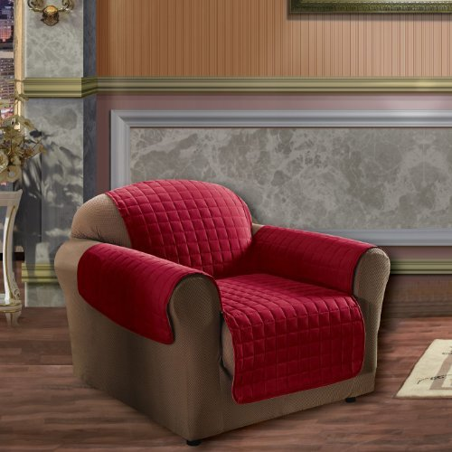Living Room Chair Covers: Chair Covers For Living Room Dining Fleece Recliner Red