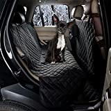 Cheap ZQ All Coverage Rear Seat Cover Padded Anti-Slip Dog Car Seat Cover Waterproof Hammock Seat Cover Bench Protector for Pets and Kids (Hammock, Black)