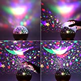 Star Projector, Night Lights for Kids- LBell Rotating Cosmos Star Sky Night Lamp with Timer for Kids Girls Boys and Baby