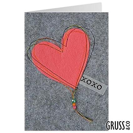Tarjeta de felicitación Fieltro - - XOXO tarjeta de amor ...