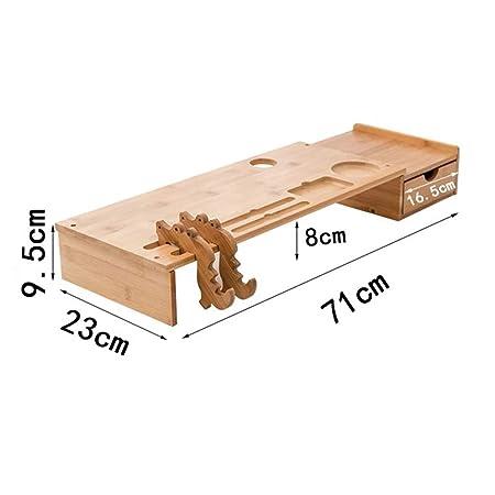 UYASDASFAFGS Bambú Equipo Pantalla Soporte para Monitor ...