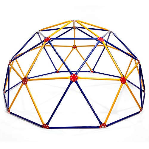 Easy Outdoor Space Dome Climber - Rust and UV Resistant Steel - 1000lb. Capacity - For Kids Ages 3 to 9 (For Equipment Toddlers Gym)