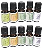 2 Sets of 5 (10 total) Essential Oils Gift Set Kit, 100% Pure Aromatherapy Oil. 6 10 Ml (Lavender, Tea Tree, Eucalyptus, Lemongrass, Orange). From Essential Me