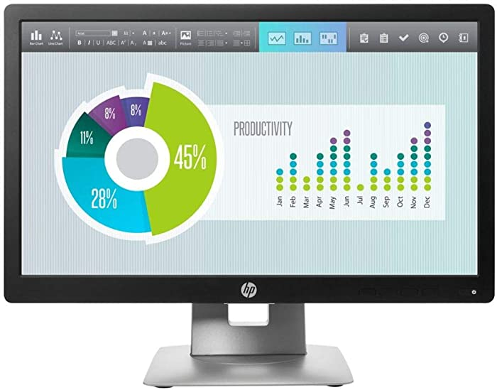 HP EliteDisplay E202 20-inch Monitor (Renewed)