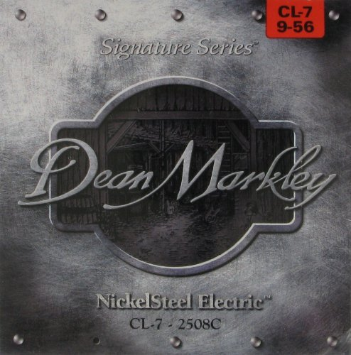 Dean Markley 7-String NickelSteel Signature Series Electric Guitar Strings, 9-56, 2508C, Custom Light