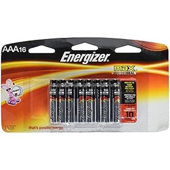 Amazon.com: Energizer Max AAA Battery, 1.5 Volt, 16 ct