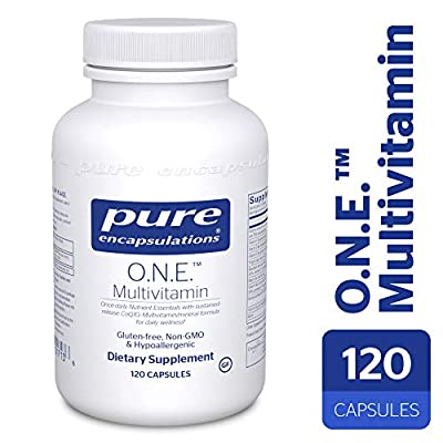 Pure Encapsulations - O.N.E. Multivitamin - Hypoallergenic Once-Daily Multivitamin w/ Sustained Release CoQ10 - 120 Capsules
