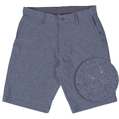 5d041026f3 Burnside Hybrid Shorts for Men Quick Dry Stretch Lightweight Golf Short/ Boardshort-(Charcoal-36)