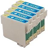 インク 【互換インク】 エプソン EPSON ICC62 5個パック(シアン 青) カートリッジ プリンターインク 汎用インク インクカートリッジ 純正 汎用