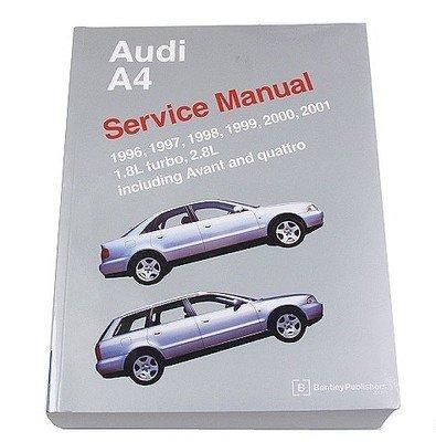 amazon com audi a4 s4 avant quattro 1996 2001 1 8l 2 8l service rh amazon com Alfa Remeo Service Repair Manuals Auto Repair Service Manuals